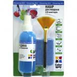 Универсальный чистящий набор ColorWay набір 3в1 Спрей, пензлик, мікрофіб. Фото