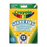 Набор для творчества Crayola 12 тонких фломастеров ярких цветов Фото