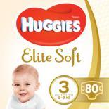 Подгузник Huggies Elite Soft 3 Mega 80 шт Фото