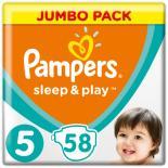 Подгузник Pampers Sleep & Play Junior (11-18 кг), 58шт Фото