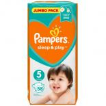 Подгузник Pampers Sleep & Play Junior (11-18 кг), 58шт Фото 1
