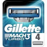 Сменные кассеты Gillette Mach 3 Turbo 4 шт Фото