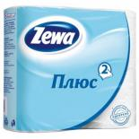 Туалетная бумага Zewa Plus 2-слойная Белая 4 шт Фото