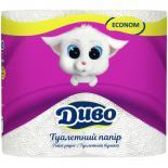 Туалетная бумага Диво Econom 2-слойная белая 4 шт Фото