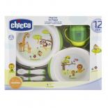 Набор детской посуды Chicco Тарелки 2 шт, чашка, ложка, вилка 12 мес+ Фото
