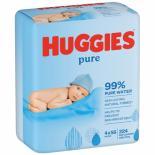 Влажные салфетки Huggies Pure 56 х 4 шт Фото 1