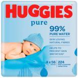 Влажные салфетки Huggies Pure 56 х 4 шт Фото 2