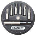 Набор бит Stanley биты Sl, Ph, Pz 7шт. + магнитный держатель Фото 1