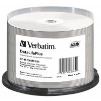 Диск CD Verbatim 700Mb 52x Cake box Printable Фото