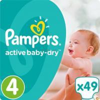Подгузник Pampers Active Baby-Dry Maxi Размер 4 (8-14 кг), 49шт Фото
