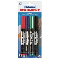 Маркер Centropen Permanent 8566 2,5 мм, round tip, SET 4colors (BLi Фото