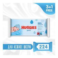 Влажные салфетки Huggies Pure 56 х 4 шт Фото