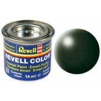 Аксесуари до збірних моделей Revell Краска № 363 Темно-зеленая шелково-матовая, 14 мл Фото