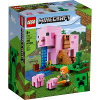 Конструктор LEGO Minecraft Дом-свинья 490 деталей Фото
