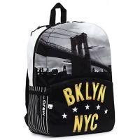 Рюкзак шкільний Mojo Бруклин Нью Йорк Черно-белый Фото