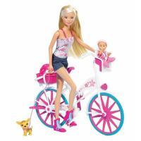 Лялька Simba Штеффи с малышом на велосипеде Фото