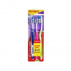 Зубна щітка Colgate базовая Зиг заг + средняя (8935236000369) ▷ Купити в  ITbox.ua  02e3fb5987ba5