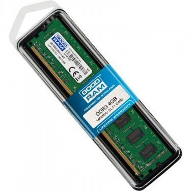 Модуль памяти для компьютера DDR3 4GB 1600 MHz Goodram (GR1600D364L11/4G) - фото 5