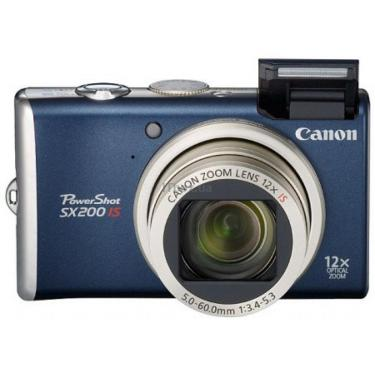 Цифровой фотоаппарат PowerShot SX200 is blue Canon (3510B002) - фото 1