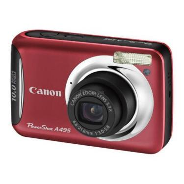 Цифровий фотоапарат PowerShot A495 red Canon (4261B002) - фото 1
