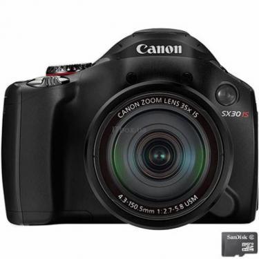Цифровой фотоаппарат PowerShot SX30is Canon (4344B016) - фото 1