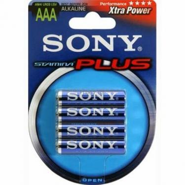 Батарейка AAA Alkaline LR03 * 4 SONY (LR03 Alkaline (4)) - фото 1