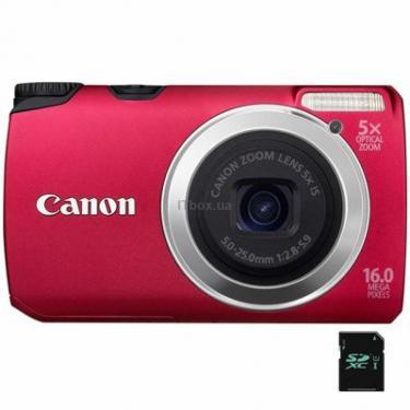 Цифровой фотоаппарат PowerShot A3300is red Canon (5038B018) - фото 1
