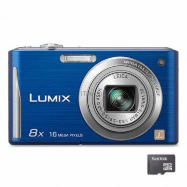 Цифровий фотоапарат Lumix DMC-FS35 blue Panasonic (DMC-FS35EE-A) - фото 1