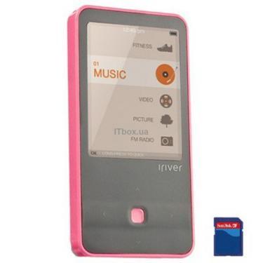 mp3 плеер iRiver E300 4GB Pink (3E3003C-RUPKN1/3E3003C-EUPKN1) - фото 1