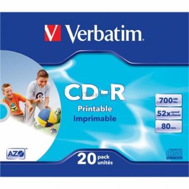 Диск CD Verbatim 700Mb 52x SlimCase.Extra.Printable (43424) - фото 1