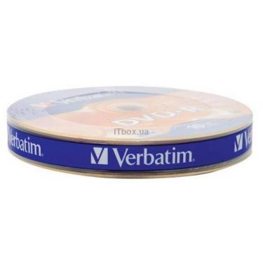 Диск DVD Verbatim 4.7Gb 16X Spindle Wrap box 10шт (43729) - фото 1