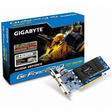 Видеокарта GeForce 210 128Mb TurboCash GIGABYTE (GV-N210TC-512I) - фото 1