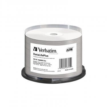 Диск CD Verbatim 700Mb 52x Cake box Printable (43745) - фото 1