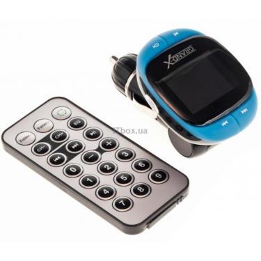 Автомобільний MP3-FM модулятор Grand-X CUFM25GRX blue SD/USB (CUFM25GRX blue) - фото 1
