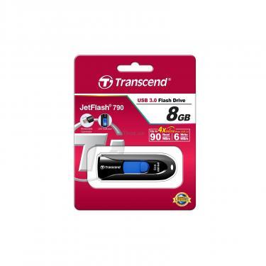 USB флеш накопитель Transcend 8GB JetFlash 790 USB 3.0 (TS8GJF790K) - фото 5