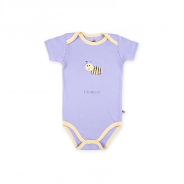 Набор детской одежды Luvable Friends из бамбука фиолетовый для девочек Фото 1
