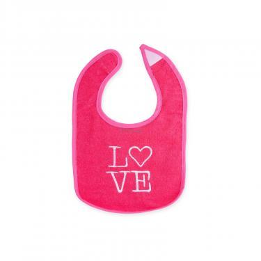 Слинявчик Luvable Friends 5 шт для девочек с надписями, розовый (2189-pink) - фото 2