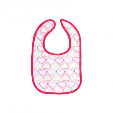 Слинявчик Luvable Friends 5 шт для девочек с надписями, розовый (2189-pink) - фото 3