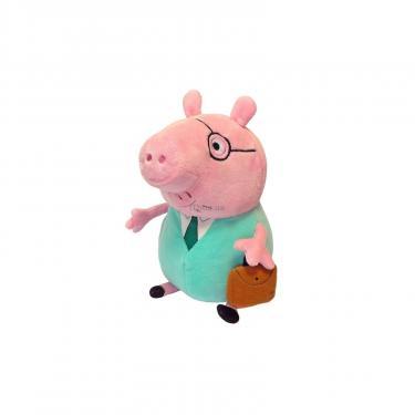 Мягкая игрушка Peppa Папа Свин с портфелем 30 см Фото