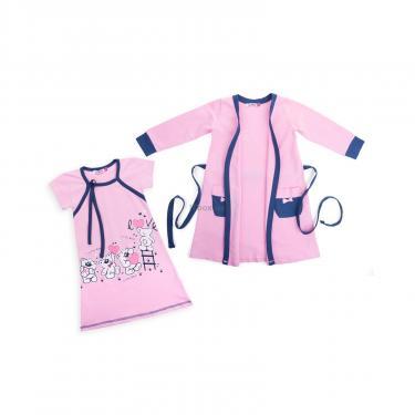 """Пижама Matilda и халат с мишками """"Love"""" (7445-110G-pink) - фото 1"""