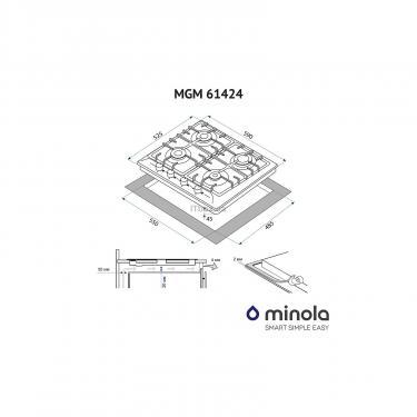 Варочная поверхность Minola MGM 61424 WH Фото 2