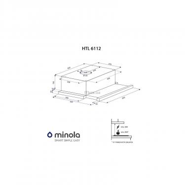 Вытяжка кухонная Minola HTL 6112 FULL INOX 650 LED Фото 9