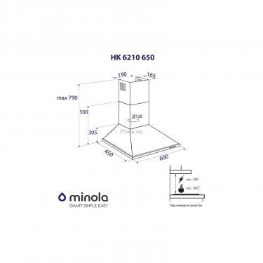 Вытяжка кухонная MINOLA HK 6210 BL 650 - фото 7
