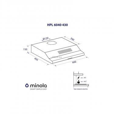 Вытяжка кухонная Minola HPL 6040 WH 430 Фото 4