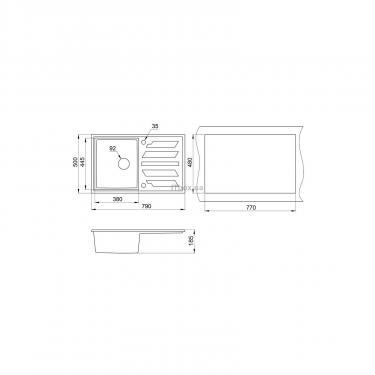 Мойка кухонная Minola MPG 1150-79 Классик Фото 1