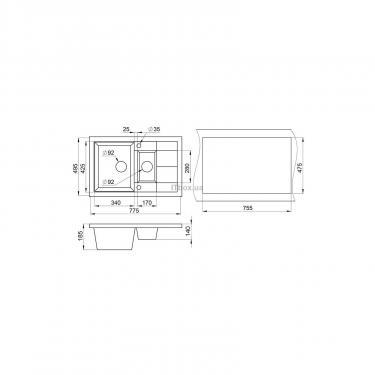 Мойка кухонная Minola MPG 5360-77 Эспрессо Фото 1