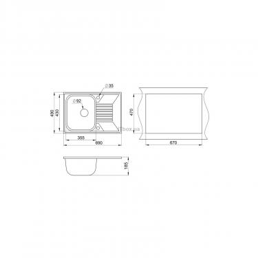 Мийка кухонна Minola MPG 71150-69 Антрацит (металлик) - фото 2