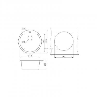 Мойка кухонная Minola MRG 1045-50 Графит Фото 1