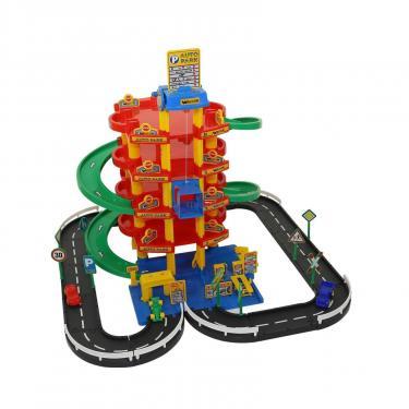 Игровой набор Polesie Wader Паркинг 5-уровневый с дорогой и автомобилями Фото