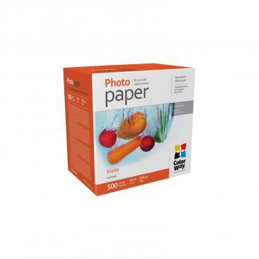 Бумага ColorWay 10x15, 220г, matte, 500л (PM2205004R) - фото 1